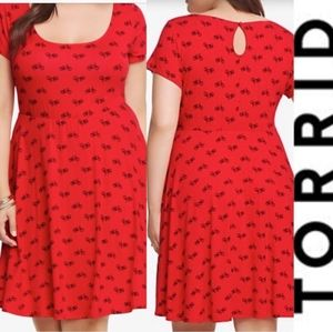 Red *Sleeveless* Torrid Summer Dress Size 3